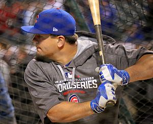 Kyle Schwarber - Schwarber practicing before Game 1 of the 2016 World Series