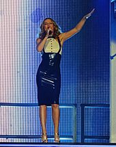 2013–2016  Kiss Me Once and Kylie Christmas. Minogue performing in  Sheffield 438b07e7f