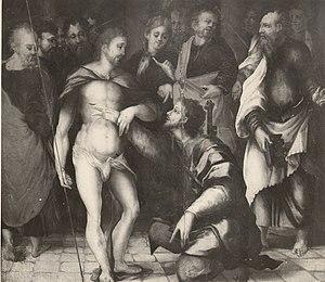 Giovanni del Giglio - Giovanni del Giglio, Incredulità di San Tommaso (Sassari, Museo Sanna)