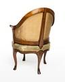 Länstol av bergère-typ, baksida, 1700-talets mitt - Hallwylska museet - 110048.tif