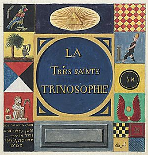 The Most Holy Trinosophia -  La Très Sainte Trinosophie, 18th century, cover page.