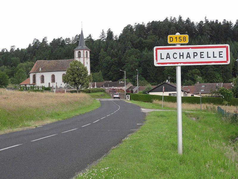 Lachapelle (M-et-M) city limit sign Lachapelle