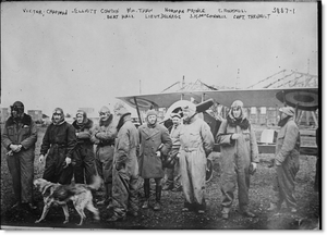 Lafayette Flying Corps - Image: Lafayette Escadrille pilots with a Nieuport 16 March 1916