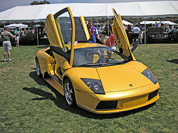 The Lamborghini Murciélago.