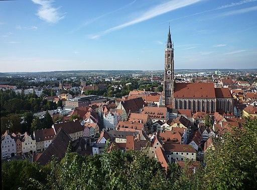 Landshut Kirche St. Martin 14 15. Jh. Sicht von der Burg