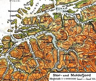 Storfjorden (Sunnmøre) - Map of the fjord