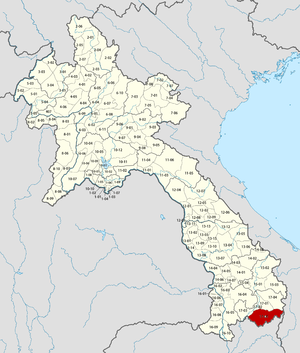 Location in Laos