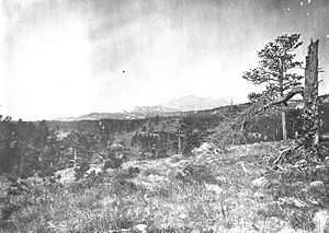 Laramie Peak - Laramie Peak from near the head of the Big Cottonwood. Albany County, Wyoming. 1870