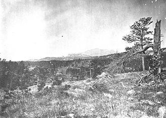 Laramie Peak - Laramie Peak from near the head of the Big Cottonwood, Albany County, Wyoming, 1870