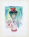 Large Boston Public Garden Sketchbook- A woman in a veiled hat decorated with poppies MET DT3404.jpg