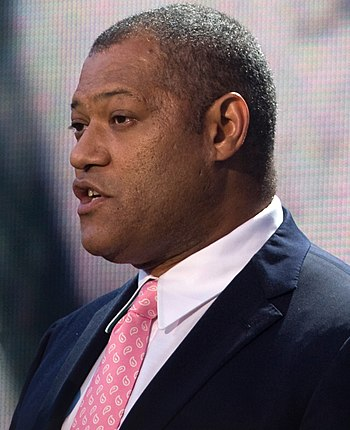 English: Actor Laurence Fishburne speaks on th...