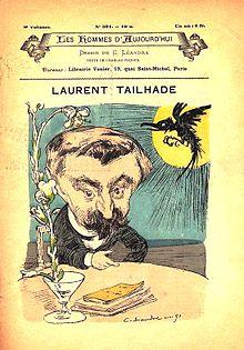 Tailhade caricaturizado porCharles Léandrepara elnúmero391 del periódicoLes Hommes de hoy(1891).