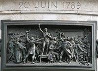Le serment du Jeu de paume. Haut-relief en bronze de Léopold Morice.jpg