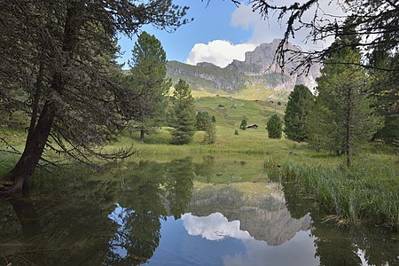 Mountain lake in the Dolomites