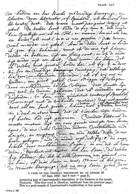 Full Size Van >> File:Leeuwenhoek's description of bacteria in the mouth, 1683 Wellcome L0010936.jpg - Wikimedia ...