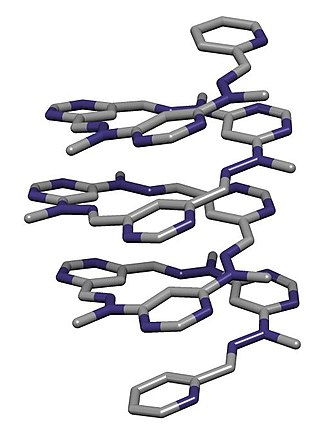 Folding (chemistry) - Crystal structure of a foldamer reported by Lehn and coworkers in Helv. Chim. Acta.,  2003, 86, 1598-1624.
