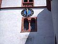 Lengfeld (Hessen)-Kirchturm Mittelteil Flanke mit romanischem Biforium-230510.jpg