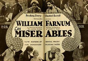 Les Misérables (1917 film) - Advertisement