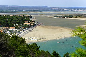 Leucate-La Franqui (Aude), view from the cliffs.jpg