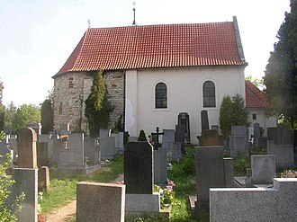 Levý Hradec - St. Clement church from N.