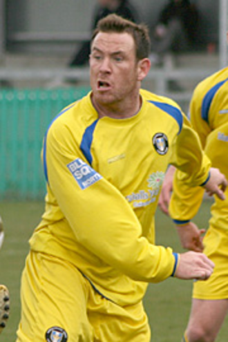 Lewis McMahon - McMahon playing for Gainsborough Trinity in 2009