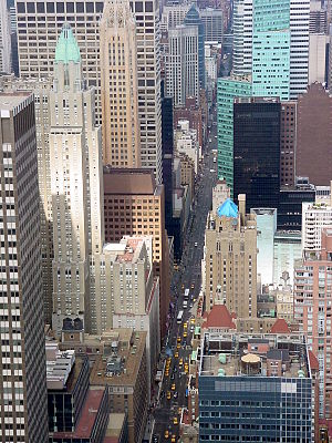 Lexington Avenue - View northward from the top floors of the Chrysler Building