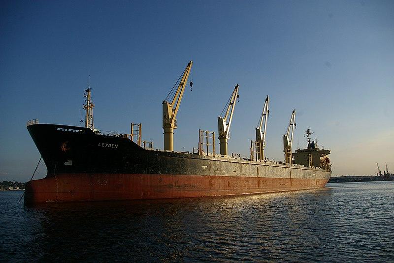 Leyden freighter, Havana Harbor.jpg