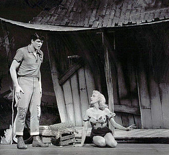 Li'l Abner (musical) - Palmer as Li'l Abner and Adams as Daisy Mae in the original production