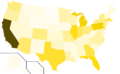 Libertarian Party presidential election results, 1996, raw vote count (United States of America).png