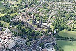 Lichfield Cathedral, Staffordshire - aerial.jpg