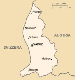 Liechtenstein - Mappa