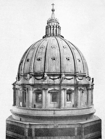 Life of Michael Angelo, 1912 - Original Model (in Wood) of the Dome of St. Peter's.jpg