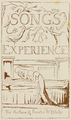 Life of William Blake (1880), Volume 1, Songs of Experience - Title page.png