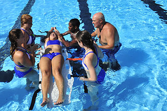 Lifeguard - U.S. military personnel undergo lifeguard training
