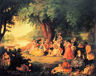 Lilly Martin Spencer - The Artist and Her Family on a Fourth of July Picnic (c.1864)
