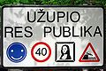 Lithuania Vilnius Užupis sign.jpg