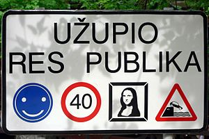 Užupis - Sign at the border of Užupis