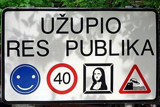 Užupis - Sign at the border of Užupis