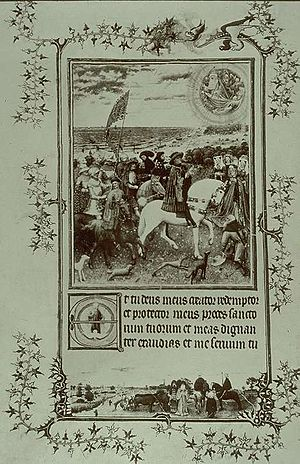 Turin-Milan Hours - The Prayer on the Shore by Hand G, destroyed in 1904