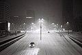 Ljubljana - Dunajska cesta (ponoči v snegu).jpg