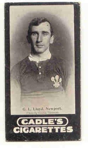 Llewellyn Lloyd - Lloyd in Wales jersey