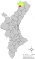 Localització de Castellfort respecte del País Valencià.png