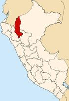 Regionens beliggenhed i Peru