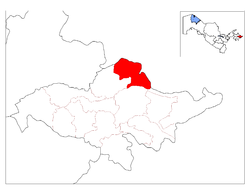 Location of Paxtaobod District in Andijon Province.png