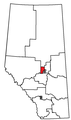 Location of St. Albert riding in Alberta (1997 and 2000 boundaries).png