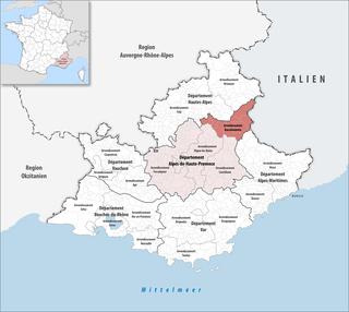 Arrondissement of Barcelonnette Arrondissement in Provence-Alpes-Côte dAzur, France