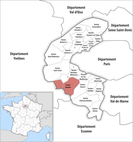 Locator map of Kanton Meudon.png