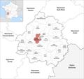 Locator map of Kanton Saint-Astier 2019.png