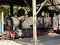 Locomotora de vapor fabricada por Arthur Koppel en 1906, Tren patrimonial del Cajón del Maipo, Estación El Melocotón, Chile.jpg