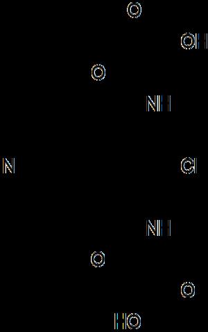 Lodoxamide - Image: Lodoxamide structure
